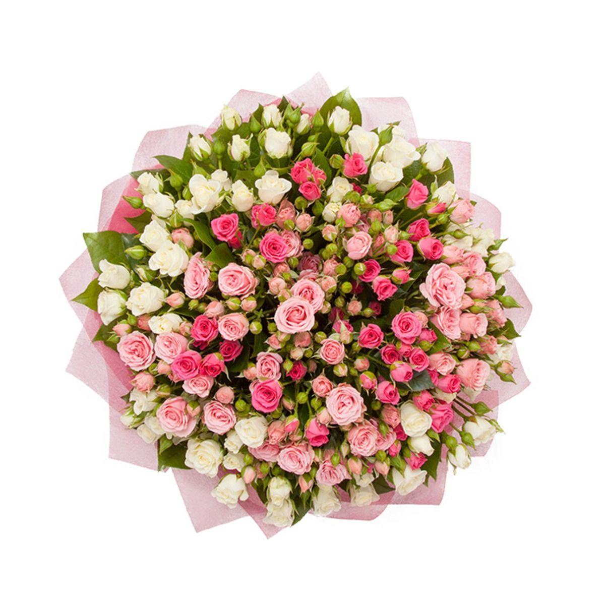красивый букет из мелких роз поздравления